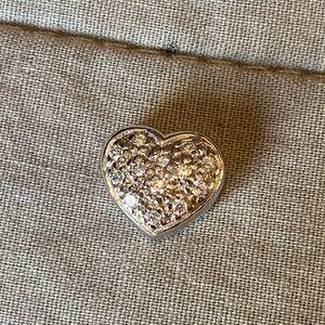 Heart charm for a choker or chain